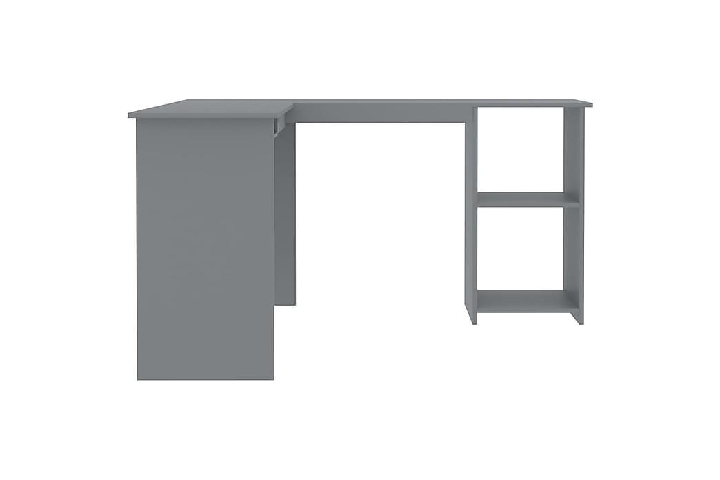 L-formet hjørneskrivebord grå 120x140x75 cm sponplate - Møbler - Bord - Skrivebord
