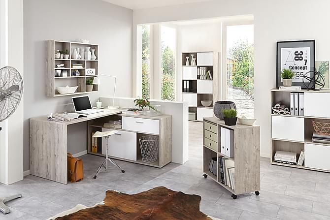 Mamoru Skrivebord - Sandeik/Hvit - Møbler - Bord - Skrivebord
