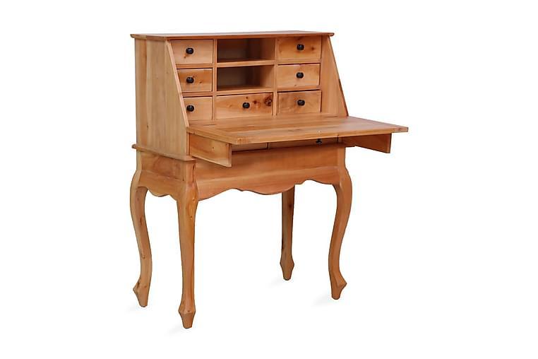 Sekretӕrbord 78x42x103 cm heltre mahogni - Brun - Møbler - Bord - Skrivebord