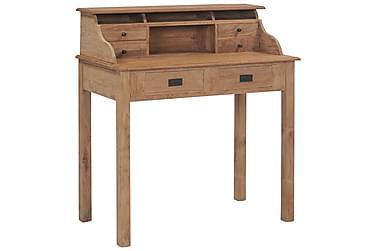 Skrivebord 90x50x100 cm heltre teak