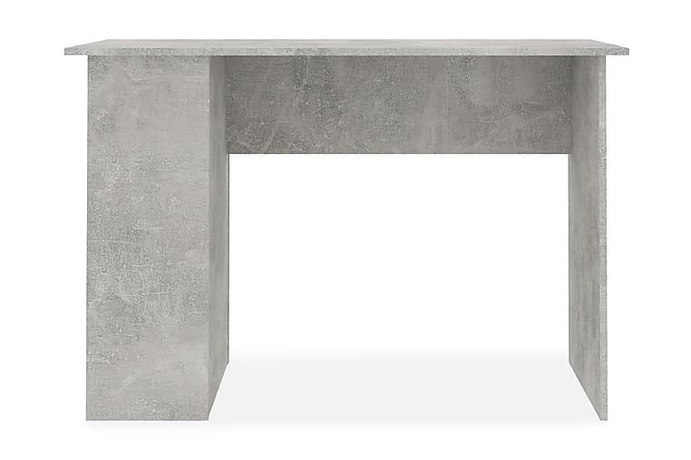Skrivebord betonggrå 110x60x73 cm sponplate - Grå - Møbler - Bord - Skrivebord