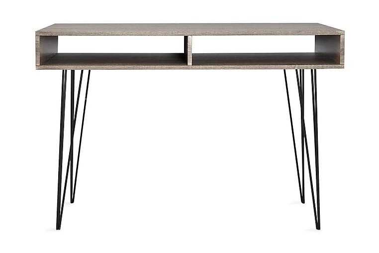 Skrivebord med 2 hyller grått - Møbler - Bord - Skrivebord
