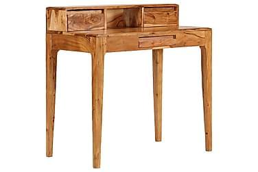 Skrivebord med skuffer heltre 88x50x90 cm