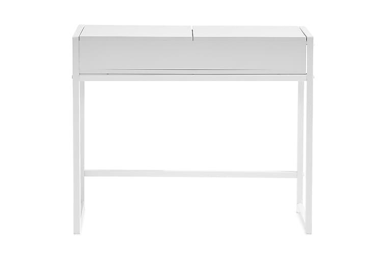 Hakebo Sminkebord 90 cm med LED-Belysning - Hvit - Møbler - Bord - Sminkebord & toalettbord