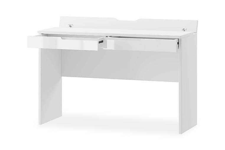 Selini Sminkebord 120 cm - Hvit Høyglans/Hvit - Møbler - Bord - Sminkebord & toalettbord