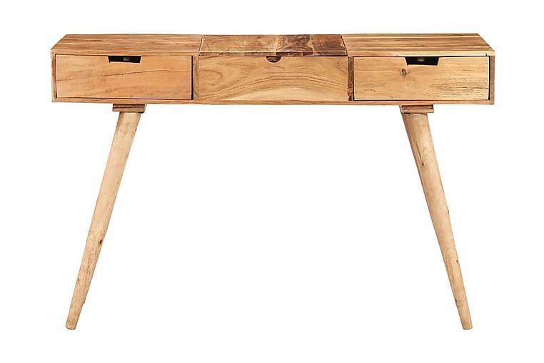 Sminkebord med speil 112x45x76 cm heltre akasie - Brun - Møbler - Bord - Sminkebord & toalettbord