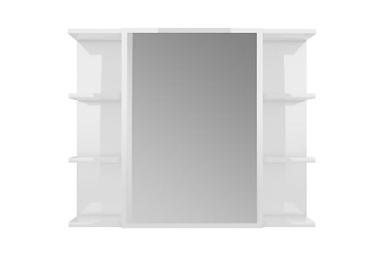 Speilskap til baderom høyglans hvit 80x20,5x64 cm sponplate - Hvit - Møbler - Bord - Sminkebord & toalettbord