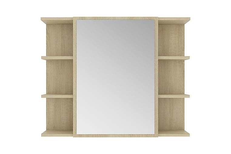 Speilskap til baderom sonoma eik 80x20,5x64 cm sponplate - Brun - Møbler - Bord - Sminkebord & toalettbord