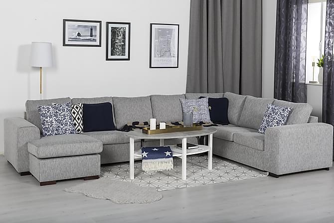 Ameli Sofabord 120 cm Ovalt - Grå/Hvit - Møbler - Bord - Sofabord