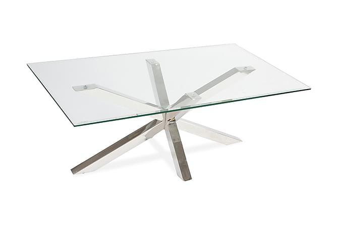 Barcola Sofabord 120 cm Glass - Lys Marmor/Krom - Møbler - Bord - Sofabord
