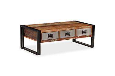 Carona Sofabord med 3 Skuffer 100x50 cm