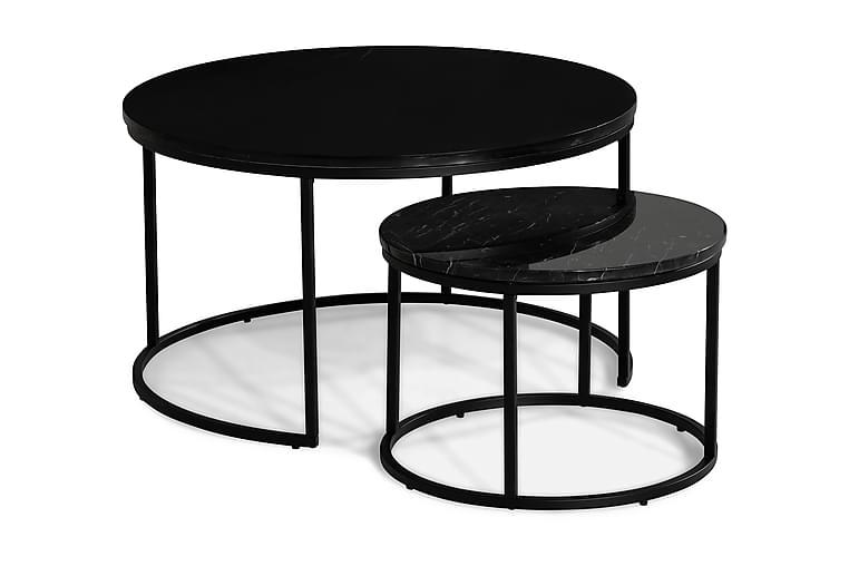 Carrie Settbord Rundt - Svart - Møbler - Bord - Sofabord