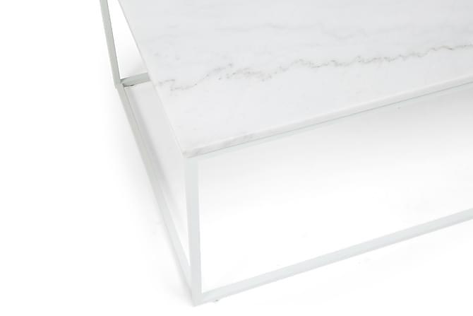 Carrie Sofabord 120 cm Marmor - Hvit - Møbler - Bord - Sofabord