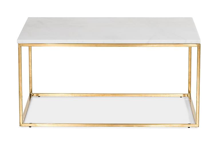 Carrie Sofabord 90 cm - Hvit/Messing - Møbler - Bord - Sofabord