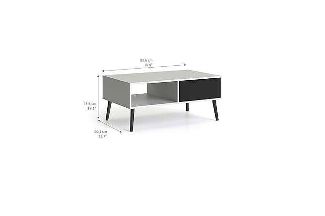Delta Sofabord 99 cm - Hvit/Svart - Møbler - Bord - Sofabord
