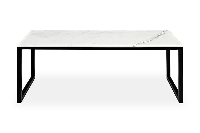 Erland Sofabord 120 cm - Hvit/Svart - Møbler - Bord - Sofabord