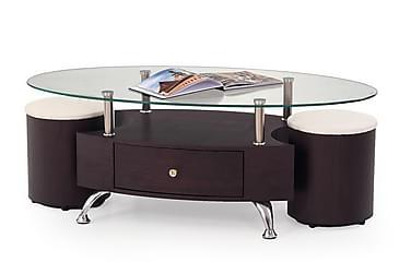 Feliciano Sofabord med Krakker 120x65 cm Glass
