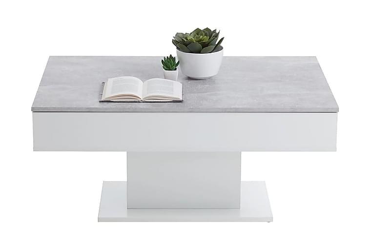 FMD Salongbord betonggrå og hvit - Møbler - Bord - Sofabord