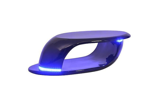 Izarra Sofabord 99x46 cm LED-belysning - Svart Høyglans - Møbler - Bord - Sofabord