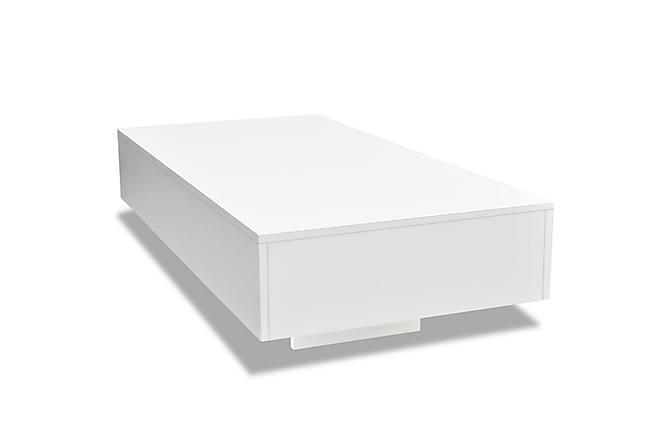 Kanga Sofabord 115x55 cm - Hvit Høyglans - Møbler - Bord - Sofabord