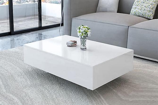 Kanga Sofabord 85x55 cm - Hvit Høyglans - Møbler - Bord - Sofabord