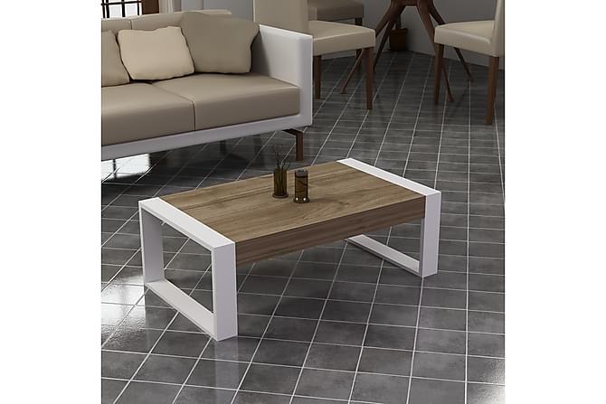 Krisa Sofabord 90 cm - Valnøtt Hvit - Møbler - Bord - Sofabord