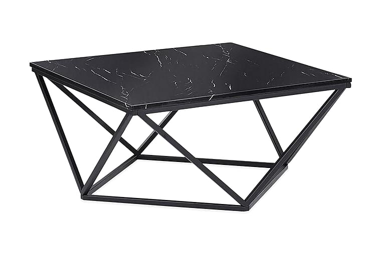 Kubsch Kaffebord Marmormønster - Svart - Møbler - Bord - Sofabord