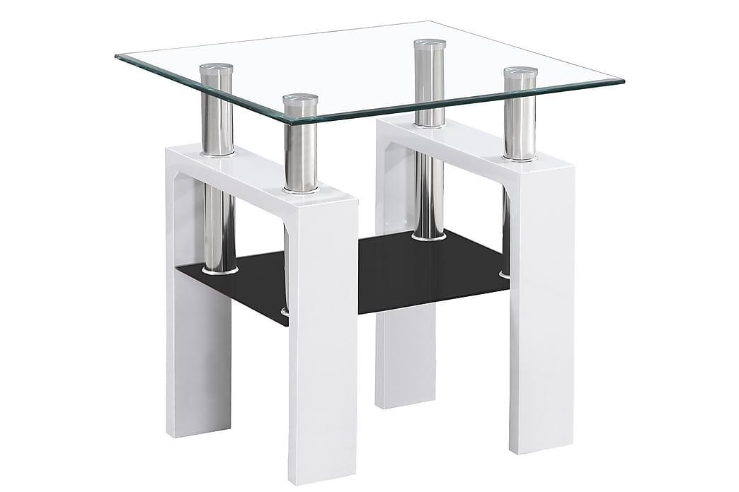 Lissana Sofabord 60 cm - Glass/Hvit - Møbler - Bord - Sofabord