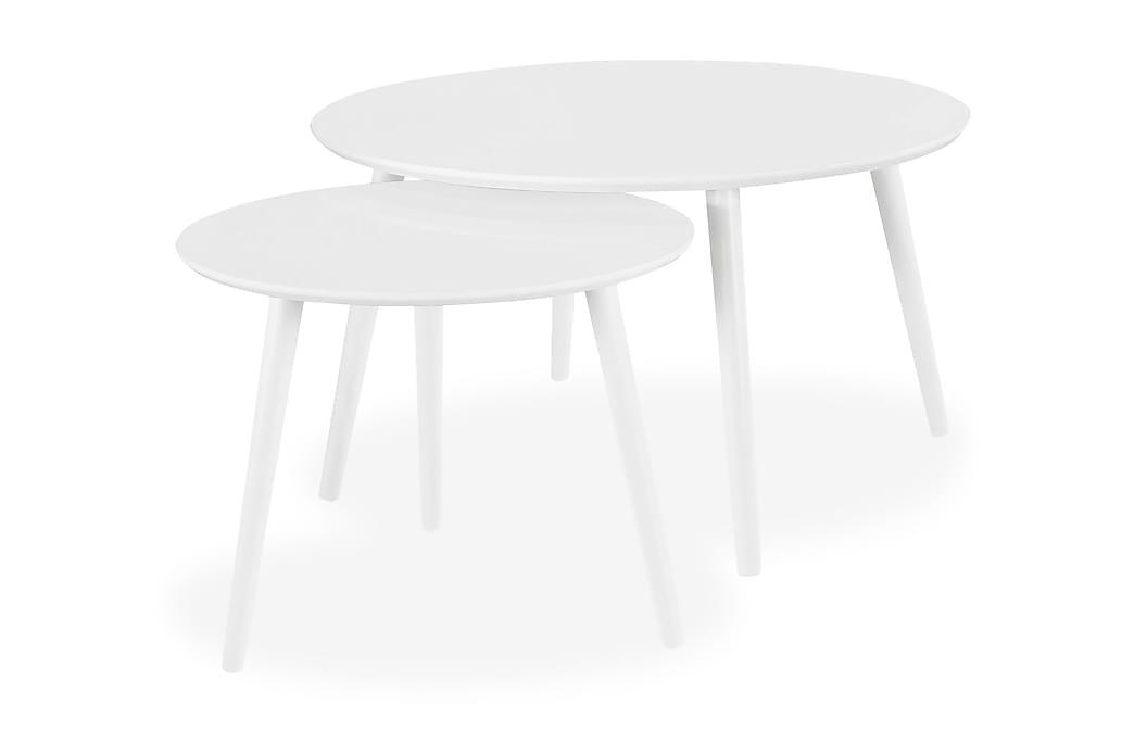 Milo Sofabord 2-pack Rundt - Hvit - Møbler - Bord - Sofabord