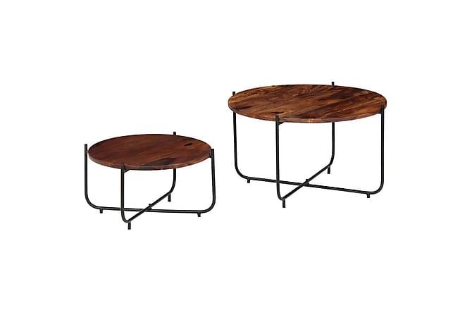 Minnesota Sofabord 60/45 cm Runde Sett med 2 - Rosetre - Møbler - Bord - Sofabord