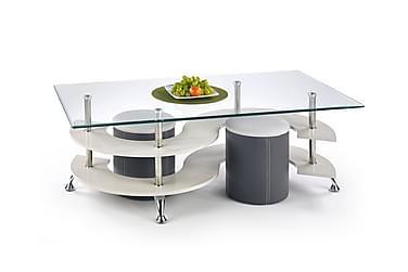 Nina Sofabord med Krakker 140x70 cm Glass