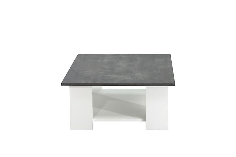 Plessan Sofabord 67x67 cm - Hvit/Grå - Møbler - Bord - Sofabord