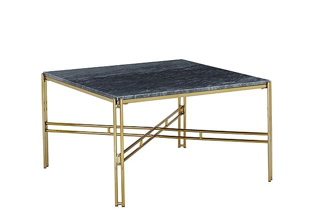 Ponza Sofabord 80x80 cm Marmor - Grå/Messing - Møbler - Bord - Sofabord