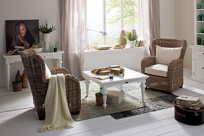 Provence Sofabord 100 cm - Hvit - Møbler - Bord - Sofabord