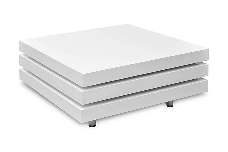 Salongbord 3 nivåer høyglans hvit - Hvit Høyglans - Møbler - Bord - Sofabord