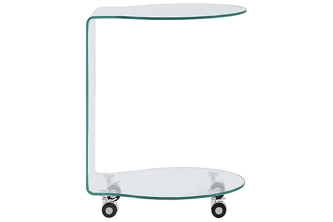 Salongbord 45x40x58 cm herdet glass - Gjennomsiktig - Møbler - Bord - Sofabord