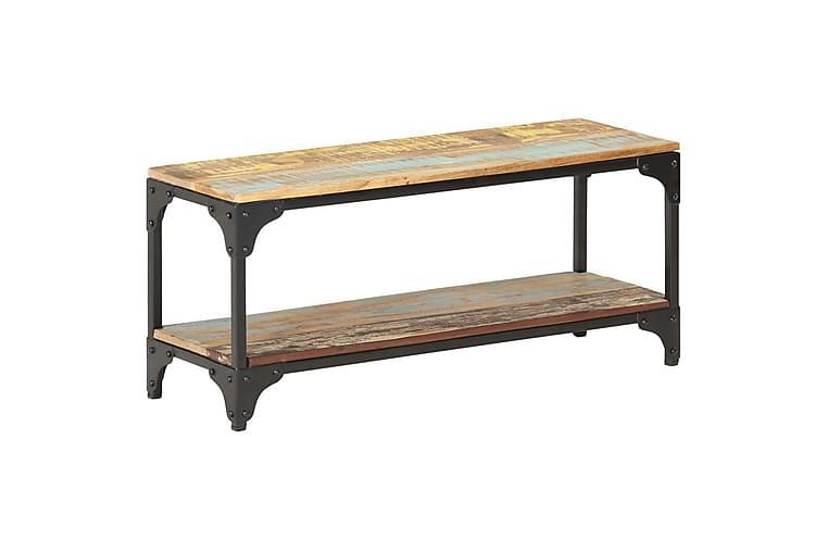 Salongbord 90x30x40 cm gjenvunnet heltre - Brun - Møbler - Bord - Sofabord
