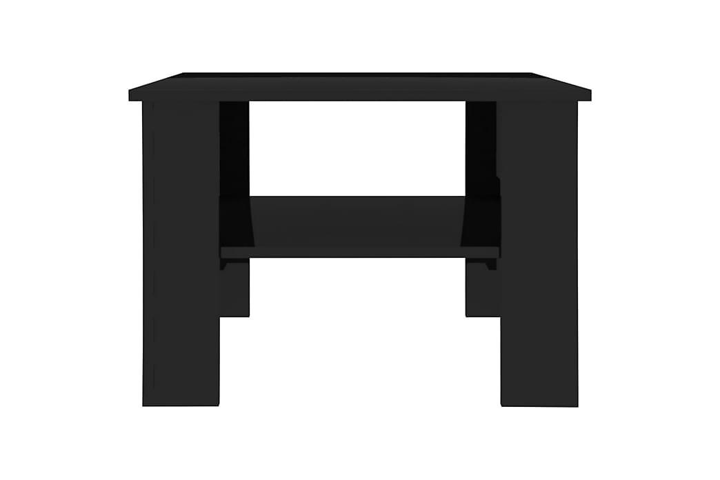 Salongbord høyglans svart 60x60x42 cm sponplate - Svart - Møbler - Bord - Sofabord