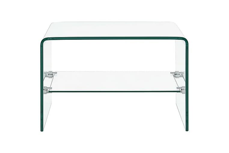 Salongbord klart 50x45x33 cm herdet glass - Gjennomsiktig - Møbler - Bord - Sofabord