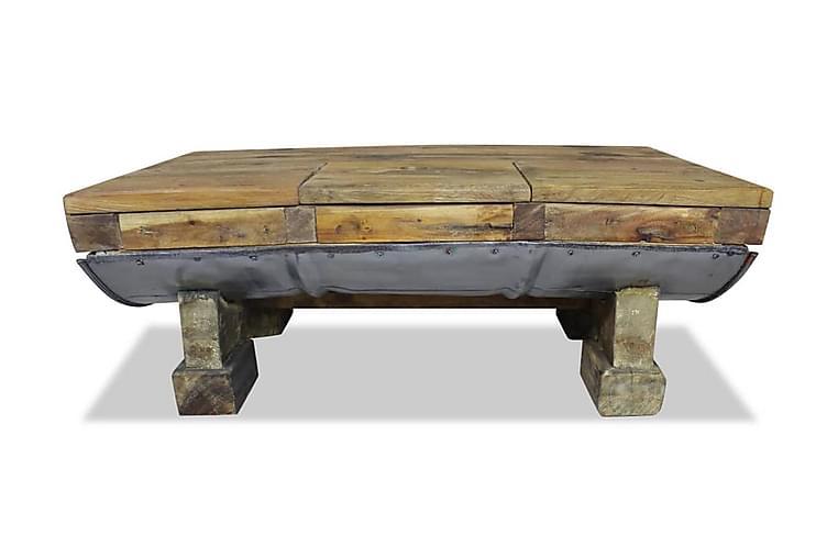 Salongbord massivt gjenvunnet tre 90x50x35 cm - Resirkulert Tre - Møbler - Bord - Sofabord
