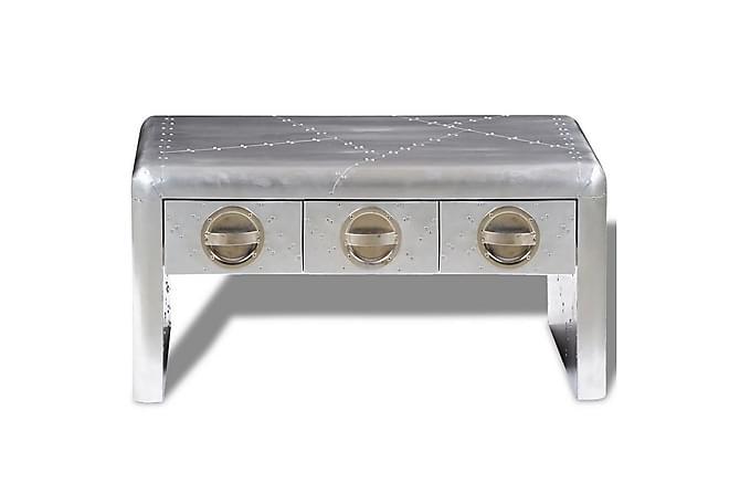 Holiday Sofabord 3 Skuffer 80x50 cm - Sølv - Møbler - Bord - Sofabord