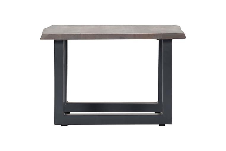 Sofabord med livlige kanter grå 60x60x40 cm heltre akasie - Møbler - Bord - Sofabord