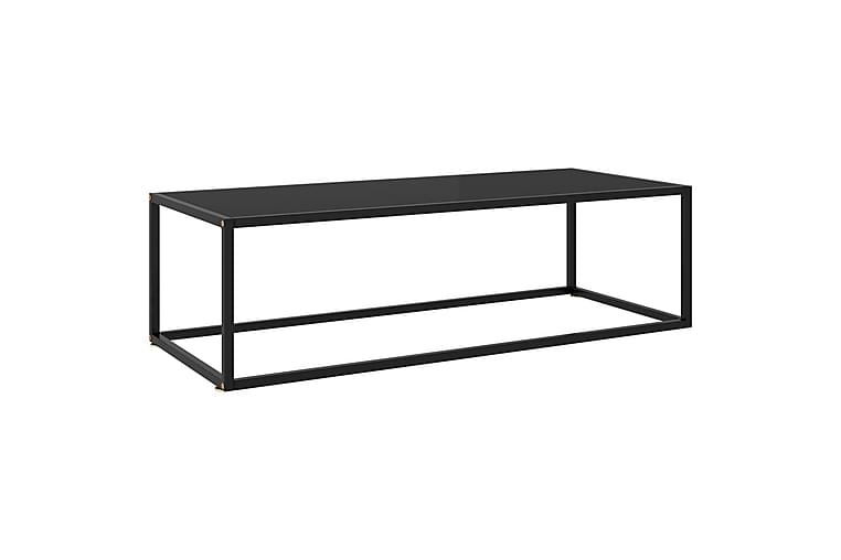 Tebord svart med svart glass 120x50x35 cm - Svart - Møbler - Bord - Sofabord
