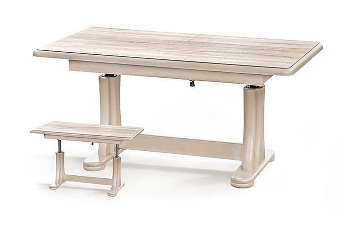 Tymon Sofabord 125x65 cm Høy- og Forlengningsbart - Eik - Møbler - Bord - Sofabord