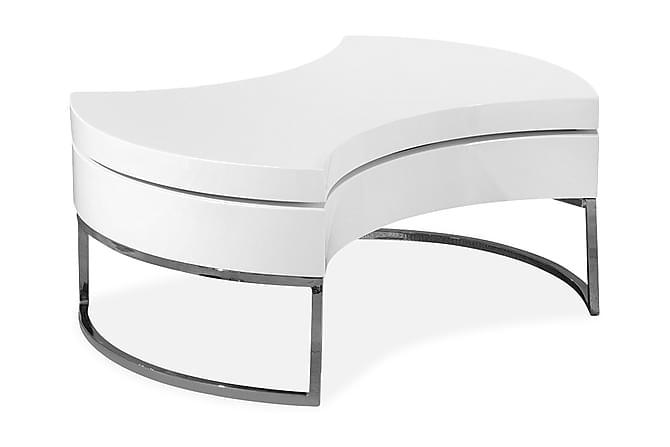 Ulyzze Sofabord 100 cm Ovalt - Hvit - Møbler - Bord - Sofabord