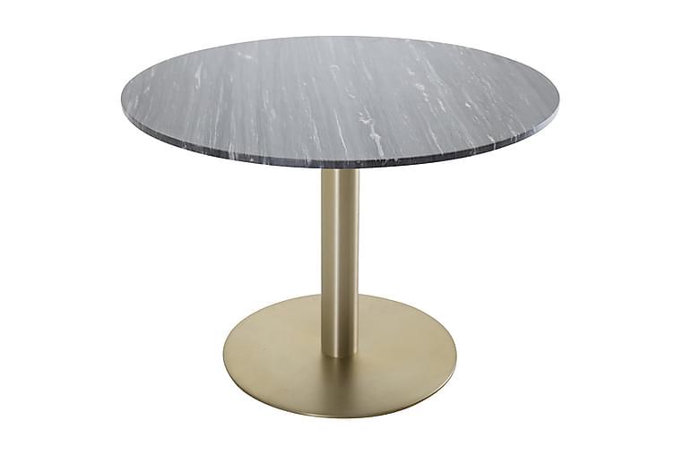 Admira Spisebord 106 cm Rundt Marmor - Svart/Messing - Møbler - Bord - Spisebord & kjøkkenbord
