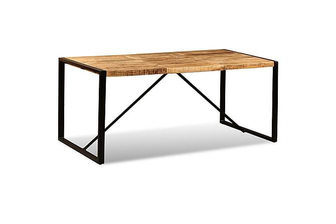 Andermatt Spisebord 180x90 cm - Mangotre/Svart - Møbler - Bord - Spisebord & kjøkkenbord