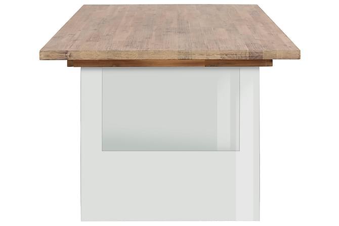 Arnau Spisebord 180 cm Glass - Akasie Brun - Møbler - Bord - Spisebord & kjøkkenbord