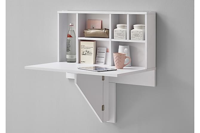 Arta Klaffebord 80 cm med Hylle - Hvit - Møbler - Bord - Spisebord & kjøkkenbord