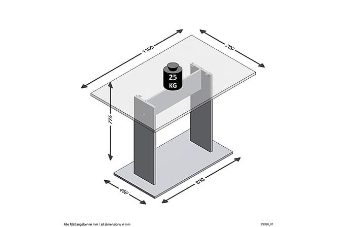 Bandol Spisebord 70 cm - Eik - Møbler - Bord - Spisebord & kjøkkenbord